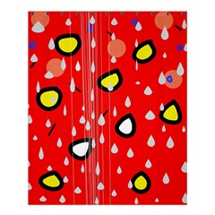Rainy day - red Shower Curtain 60  x 72  (Medium)