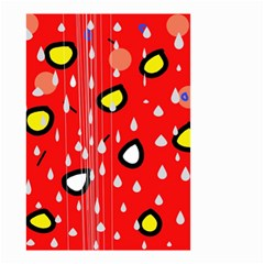 Rainy day - red Small Garden Flag (Two Sides)