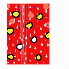 Rainy day - red Large Garden Flag (Two Sides)
