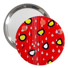 Rainy day - red 3  Handbag Mirrors