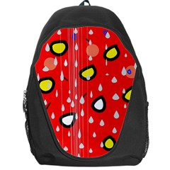 Rainy day - red Backpack Bag