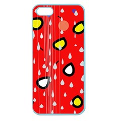 Rainy day - red Apple Seamless iPhone 5 Case (Color)