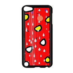 Rainy day - red Apple iPod Touch 5 Case (Black)