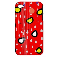 Rainy day - red Apple iPhone 4/4S Hardshell Case (PC+Silicone)