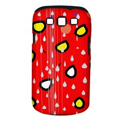 Rainy day - red Samsung Galaxy S III Classic Hardshell Case (PC+Silicone)