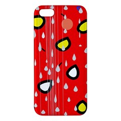 Rainy day - red Apple iPhone 5 Premium Hardshell Case