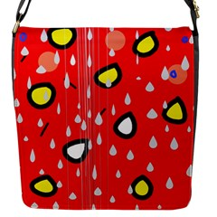 Rainy day - red Flap Messenger Bag (S)