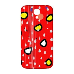 Rainy day - red Samsung Galaxy S4 I9500/I9505  Hardshell Back Case
