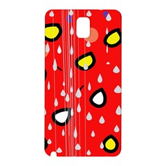 Rainy day - red Samsung Galaxy Note 3 N9005 Hardshell Back Case
