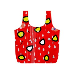Rainy day - red Full Print Recycle Bags (S)