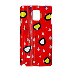 Rainy Day   Red Samsung Galaxy Note 4 Hardshell Case