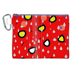 Rainy day - red Canvas Cosmetic Bag (XXL)