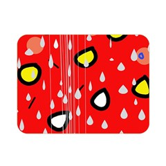 Rainy day - red Double Sided Flano Blanket (Mini)
