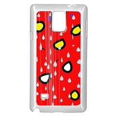 Rainy day - red Samsung Galaxy Note 4 Case (White)