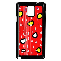 Rainy day - red Samsung Galaxy Note 4 Case (Black)