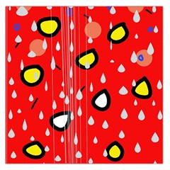 Rainy day - red Large Satin Scarf (Square)