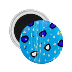 Rainy day - blue 2.25  Magnets