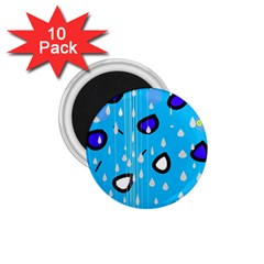 Rainy day - blue 1.75  Magnets (10 pack)