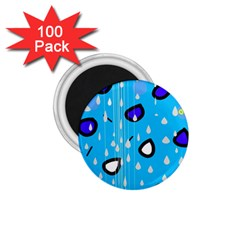 Rainy day - blue 1.75  Magnets (100 pack)