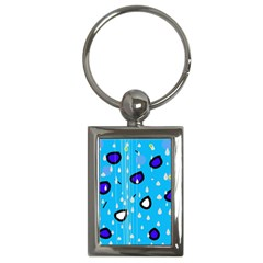 Rainy day - blue Key Chains (Rectangle)