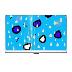 Rainy day - blue Business Card Holders