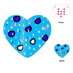 Rainy day - blue Playing Cards (Heart)