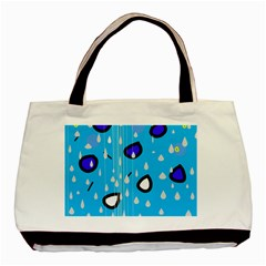 Rainy day - blue Basic Tote Bag