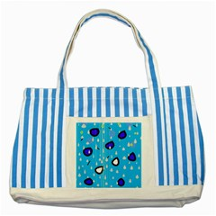 Rainy day - blue Striped Blue Tote Bag