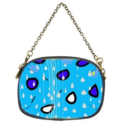 Rainy day - blue Chain Purses (One Side)