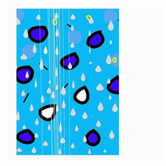 Rainy day - blue Large Garden Flag (Two Sides)