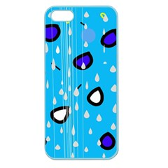 Rainy day - blue Apple Seamless iPhone 5 Case (Color)