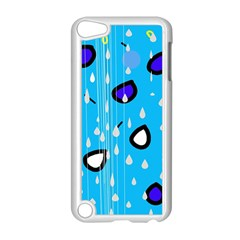 Rainy day - blue Apple iPod Touch 5 Case (White)