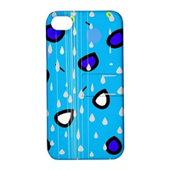 Rainy day - blue Apple iPhone 4/4S Hardshell Case with Stand