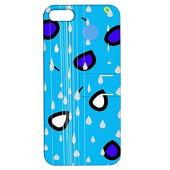 Rainy day - blue Apple iPhone 5 Hardshell Case with Stand