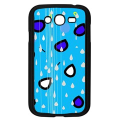 Rainy day - blue Samsung Galaxy Grand DUOS I9082 Case (Black)