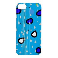 Rainy day - blue Apple iPhone 5S/ SE Hardshell Case