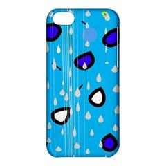 Rainy day - blue Apple iPhone 5C Hardshell Case