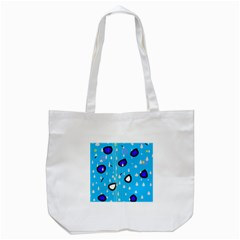 Rainy day - blue Tote Bag (White)