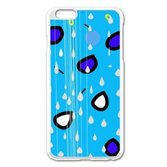 Rainy day - blue Apple iPhone 6 Plus/6S Plus Enamel White Case