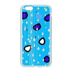 Rainy day - blue Apple Seamless iPhone 6/6S Case (Color)