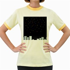 Night Women s Fitted Ringer T-Shirts