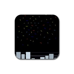 Night Rubber Square Coaster (4 pack)