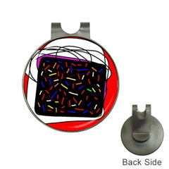 Color TV Hat Clips with Golf Markers