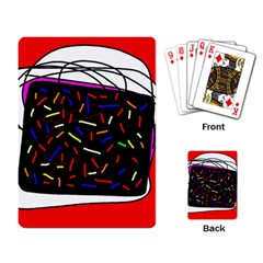 Color TV Playing Card