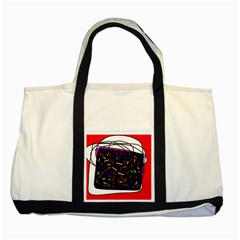 Color TV Two Tone Tote Bag