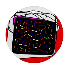 Color TV Round Ornament (Two Sides)