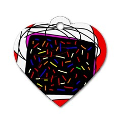 Color TV Dog Tag Heart (Two Sides)