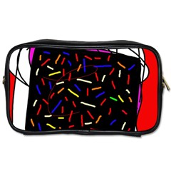 Color TV Toiletries Bags 2-Side