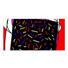 Color TV Satin Shawl