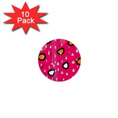 Rainy day - pink 1  Mini Buttons (10 pack)